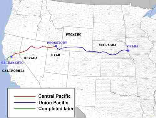 Upon Completion Of The Transcontinental Railroad Track Stretched From Omaha Nebraska To Sacramento California The Cost To Travel From Coast To Coast
